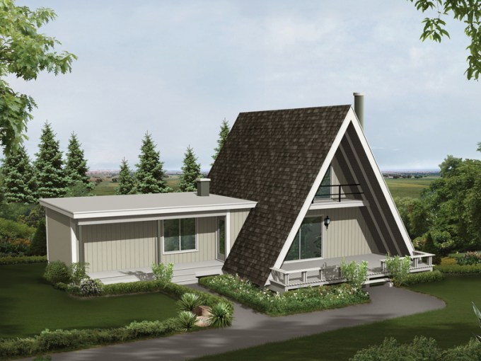 Conifer Cliff Vacation Home Plan 008D 0137   House Plans and More Conifer Cliff Vacation Home