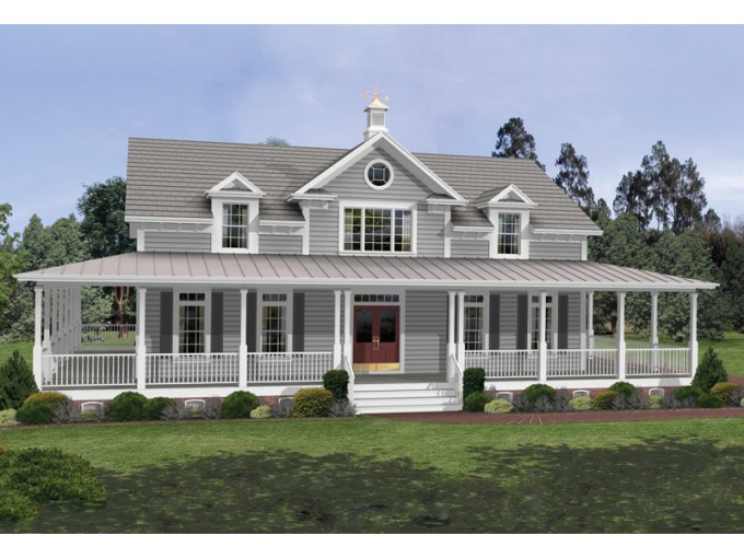 Milner Country Home Plan 013D 0050   House Plans and More Beautiful Country Porch Adds Style To This Home Design