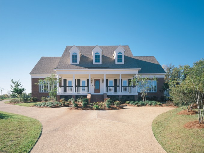 Rimini Southern Home Plan 020D 0013   House Plans and More Southern Style Home With Grand Covered Front Porch