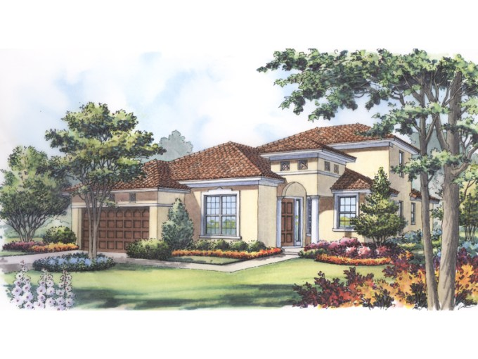 Marco Island Adobe Style Home Plan 047D 0189   House Plans and More Simple Contemporary Styled Adobe Home