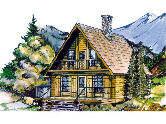 Shadow Mountain Cottage Home Plan 062D 0031   House Plans and More Shadow Mountain Cottage Home