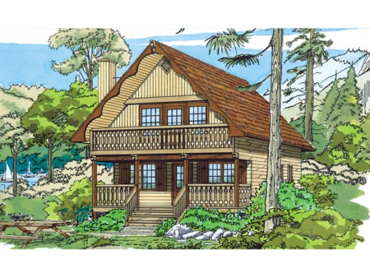 Trumbell Mountain Cottage Home Plan 062D 0033   House Plans and More