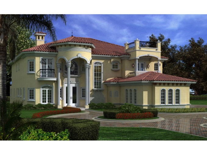 Sonora Hill Spanish Home Plan 106S 0098   House Plans and More Spanish Floridian Manor Home With Intircate Stucco Details