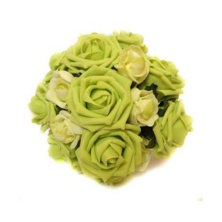 Verdant Artificial Brides Bouquet