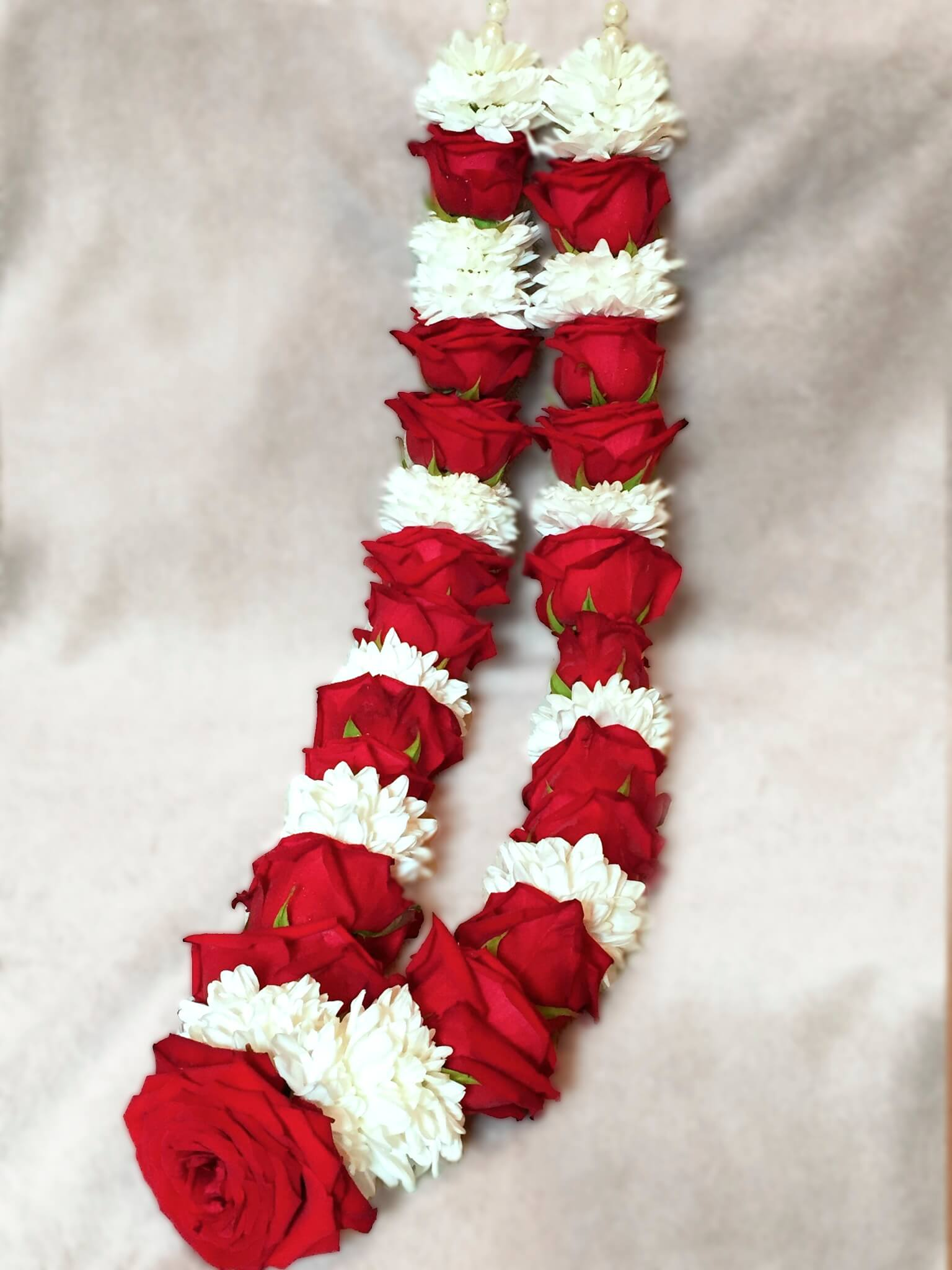 Red and White Wedding Garlands