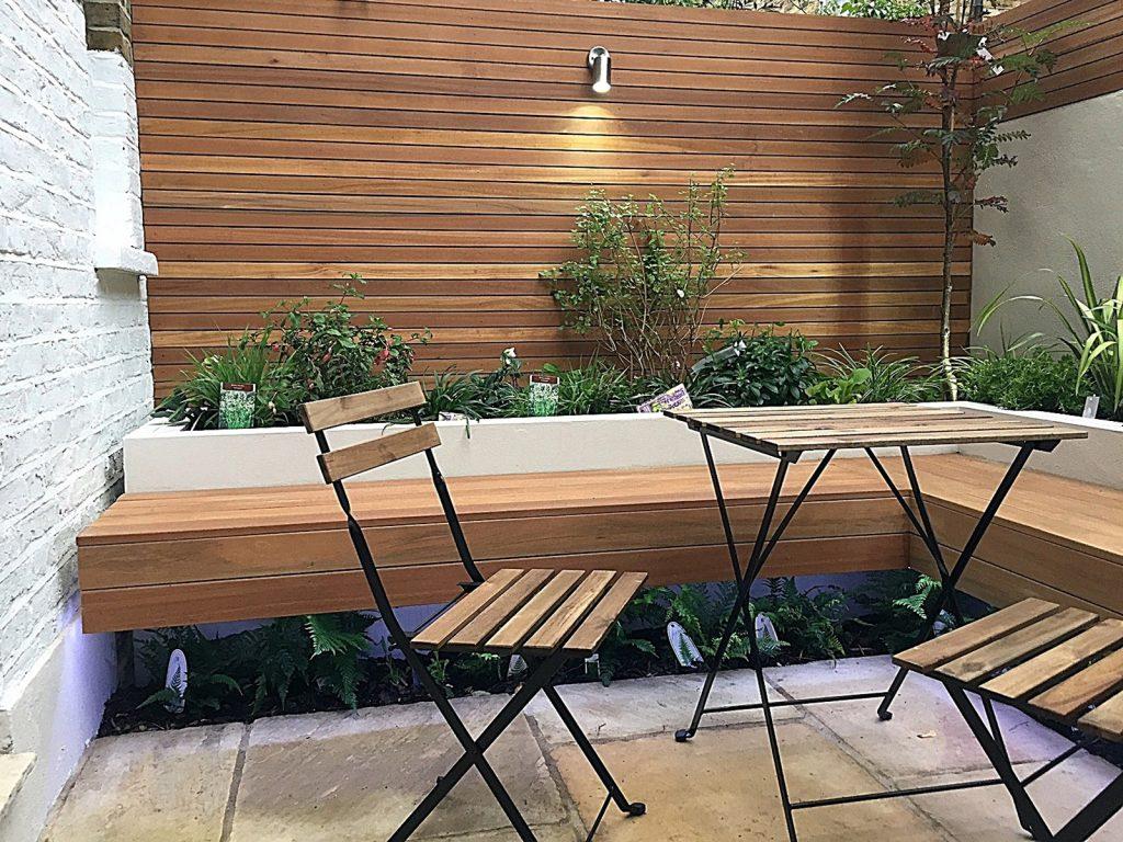 Path Paving Tile Planting Lighting Log Cabin Studio Garden