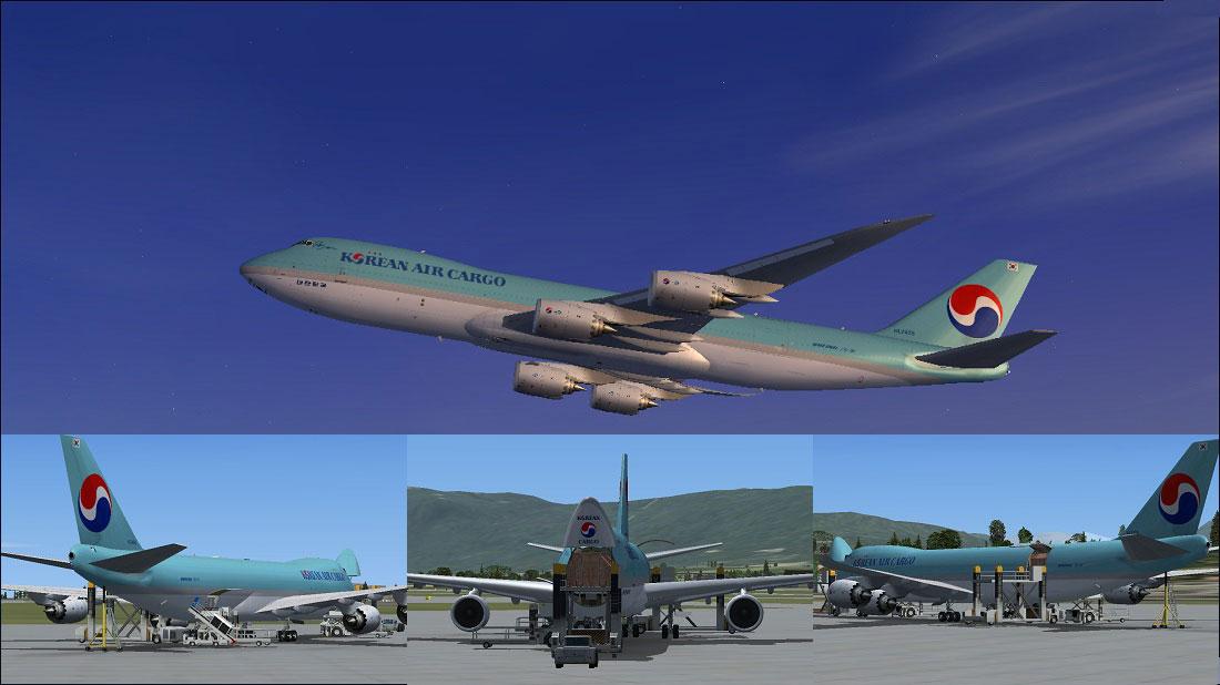 Korean Air Cargo Boeing 747 8f For Fsx