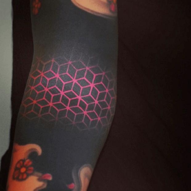 3d Geometric Shapes Tattoo