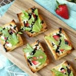 Strawberry Goat Cheese Bruschetta with Balsamic Glaze - the best summer appetizer recipe