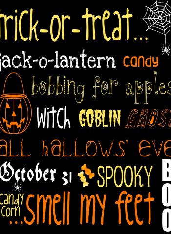 Halloween Subway Art free printable