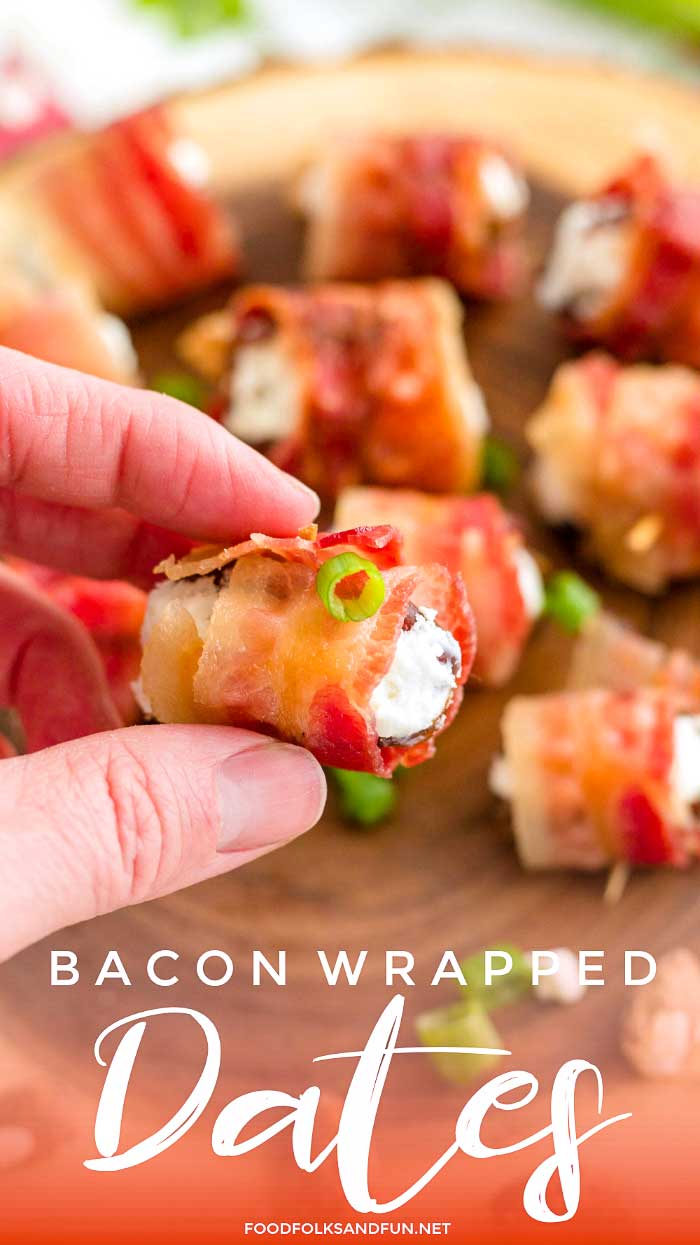 Bacon Wrapped Dates recipe for an easy appetizer
