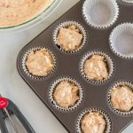 Fill the muffin tins with the batter.