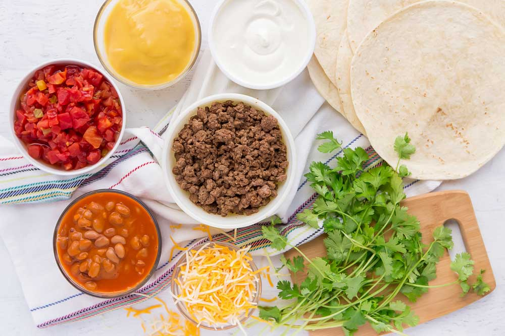Ingredients needed for Mexican Lasagna