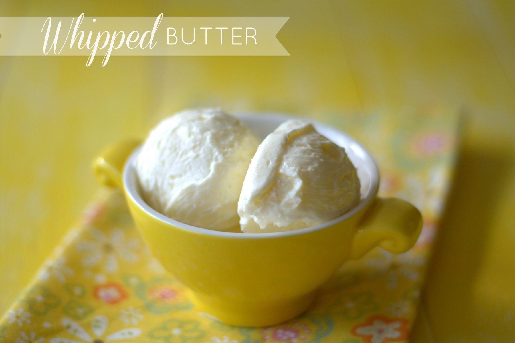 Easy homemade whipped butter recipe made with just two ingredients: butter and whole milk! Now you can make this restaurant staple at home! via @foodfolksandfun