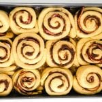 Add the sticky buns to the pan and rise until doubled in size.