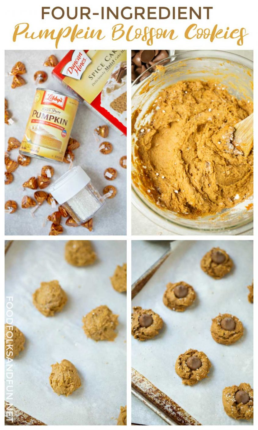 Picture collage of How to Make Four Ingredient Pumpkin Cookies