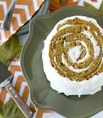 Pumpkin Blossom Cake on a serving platter