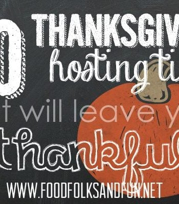 Clip art for Thanksgiving hosting tips