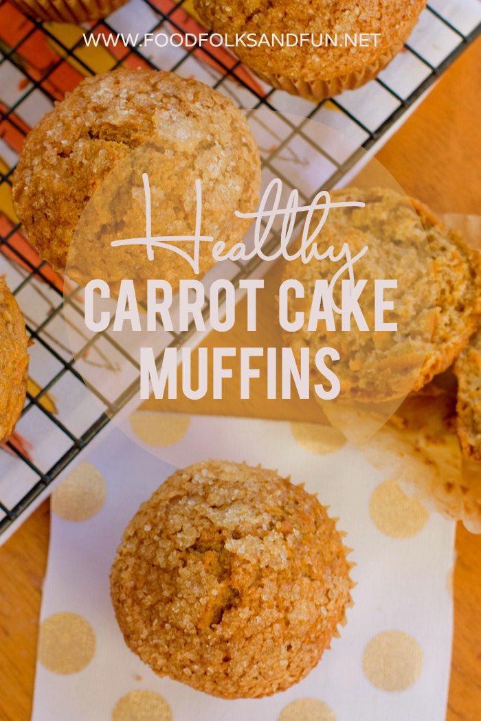 Healthy Carrot Cake Muffins Recipe via @foodfolksandfun