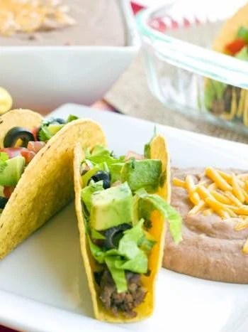 Two Easy Oven Tacos on a plate