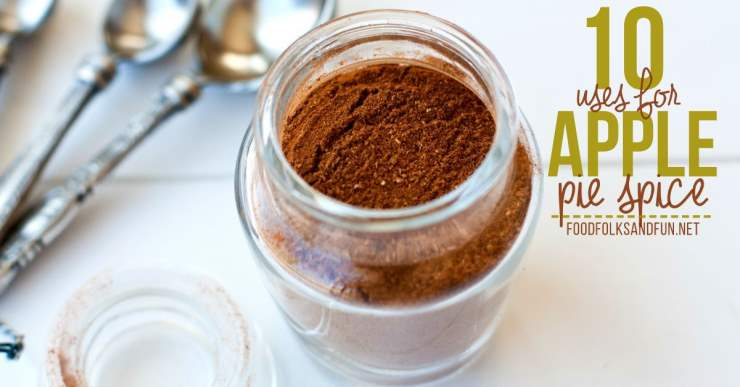 A top view of Apple Pie Spice in a glass jar