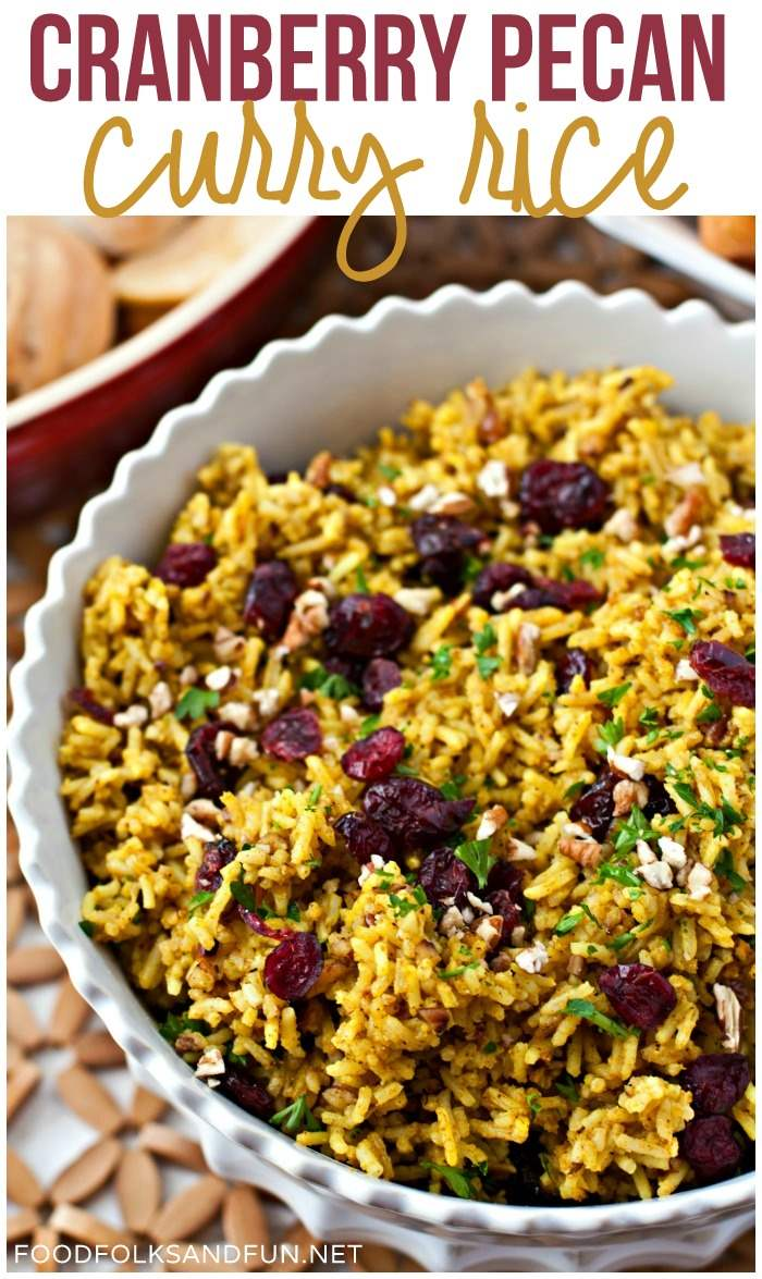 Overhead picture of Cranberry Curry rice.