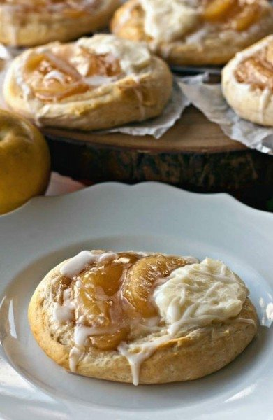 An Apple Pie Danish Biscuit on a plate