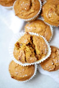 Pumpkin Muffins made with honey and not sugar.