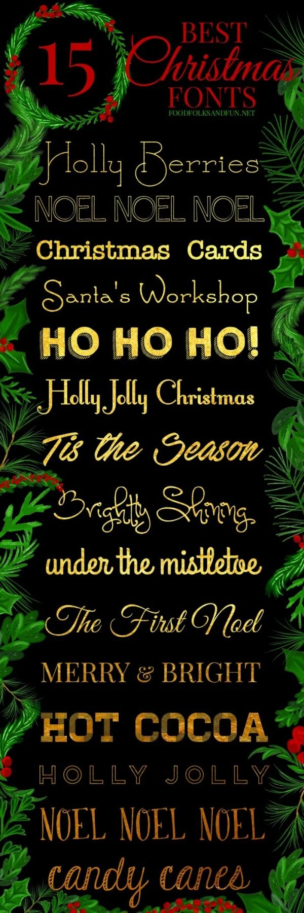 Christmas fonts available to download