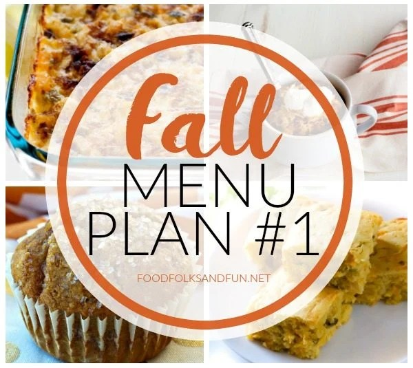 A collage of different Fall-themed dinner recipes with text overlay for Pinterest