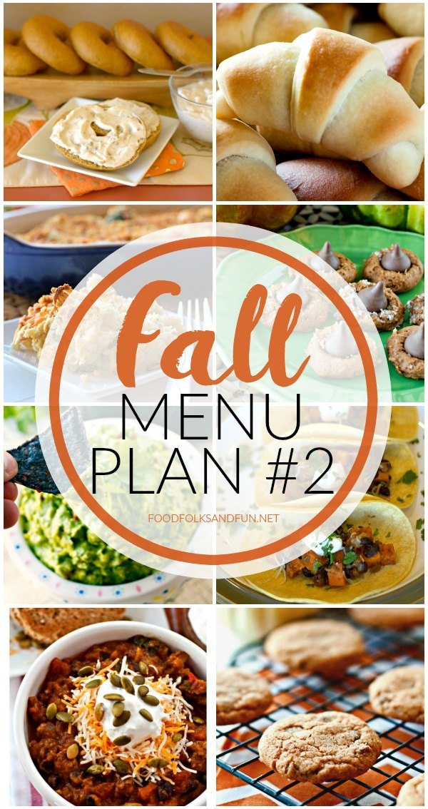 Finished menu plan with text overlay for Pinterest.