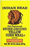 A package of Stone Ground Yellow Corn Meal