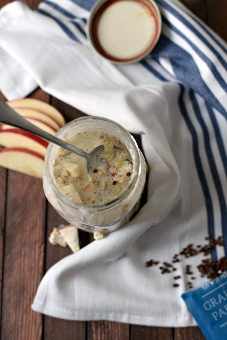 A jar of Apple Overnight Oats