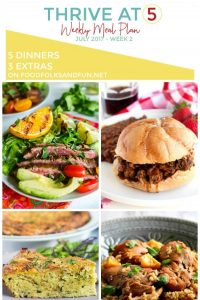 A collage of dinner options with text overlay for Pinterest
