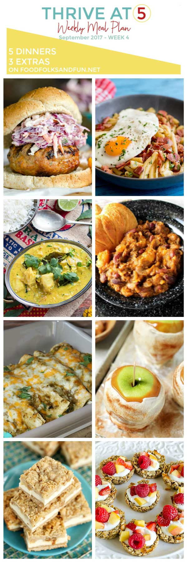 A collage of various dinner ideas with text overlay for Pinterest