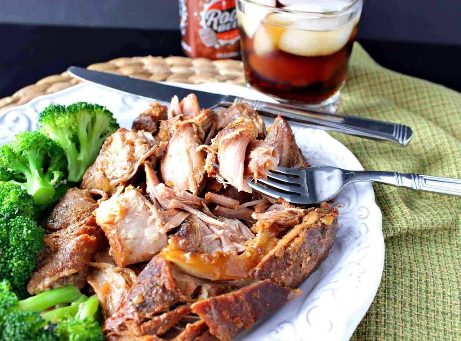 Slow Cooker root beer country ribs on a plate