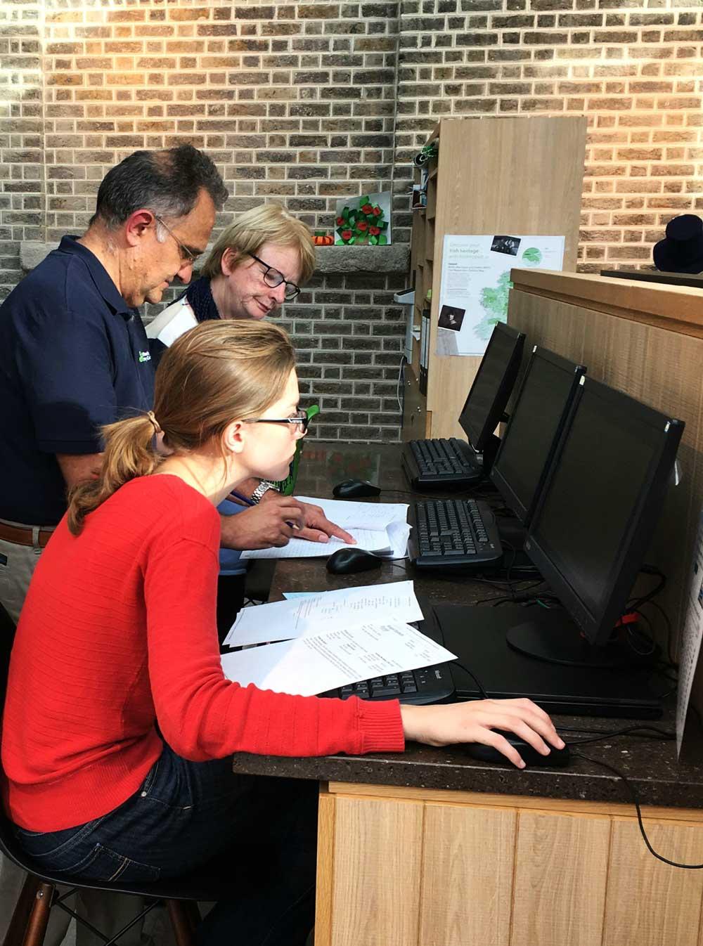 Doing Irish Genealogy at the Family History Center in Dublin, Ireland