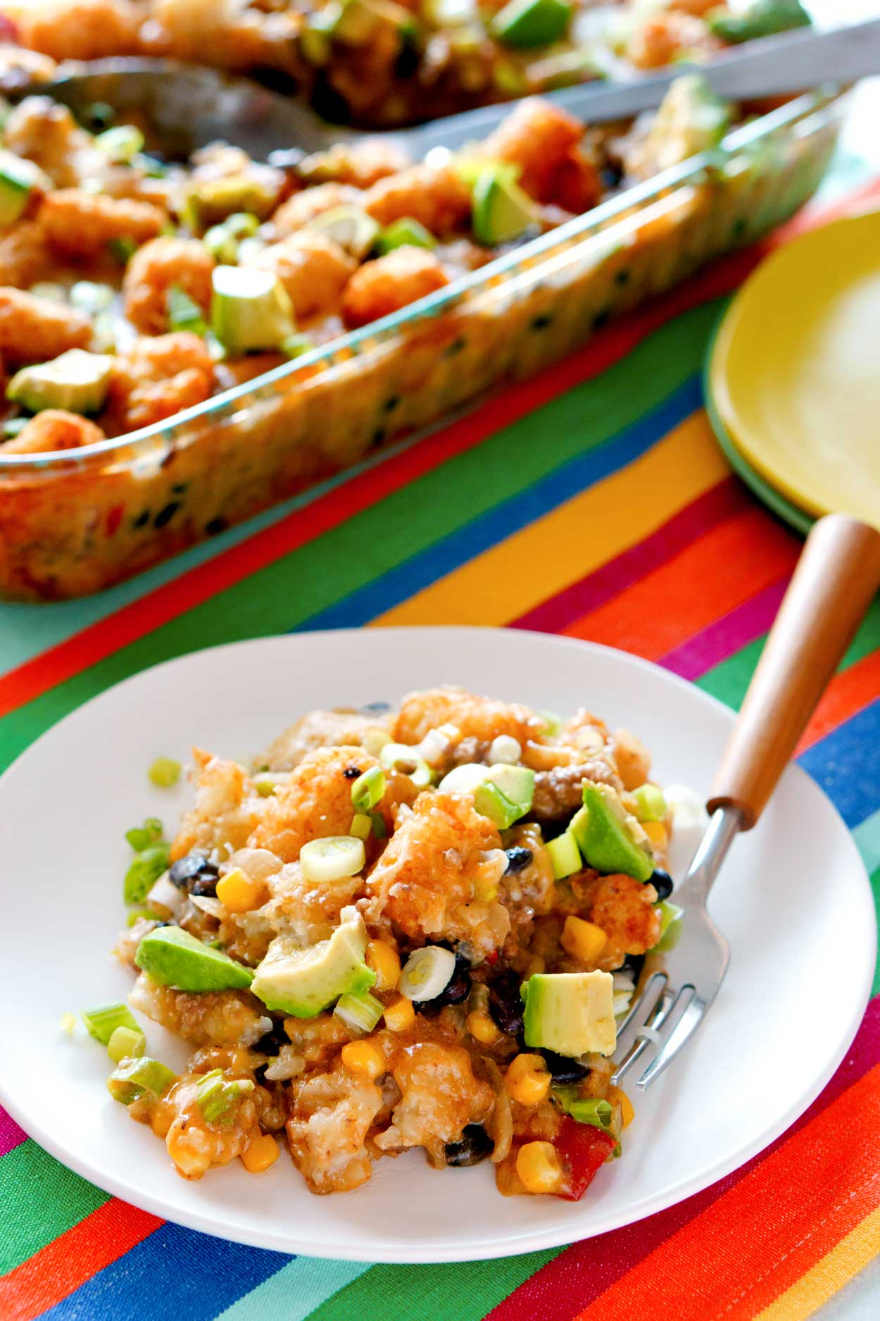Tater Tot Casserole with corn