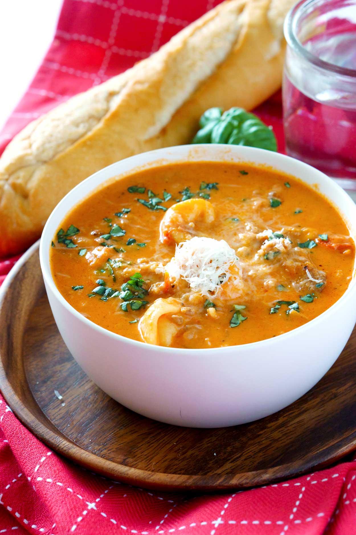 Best-ever Creamy Tomato Tortellini Soup recipe