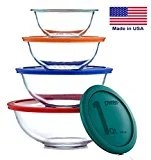 Various sizes of glass bowls with lids
