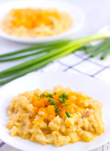 Cheesy Potatoes on a plate