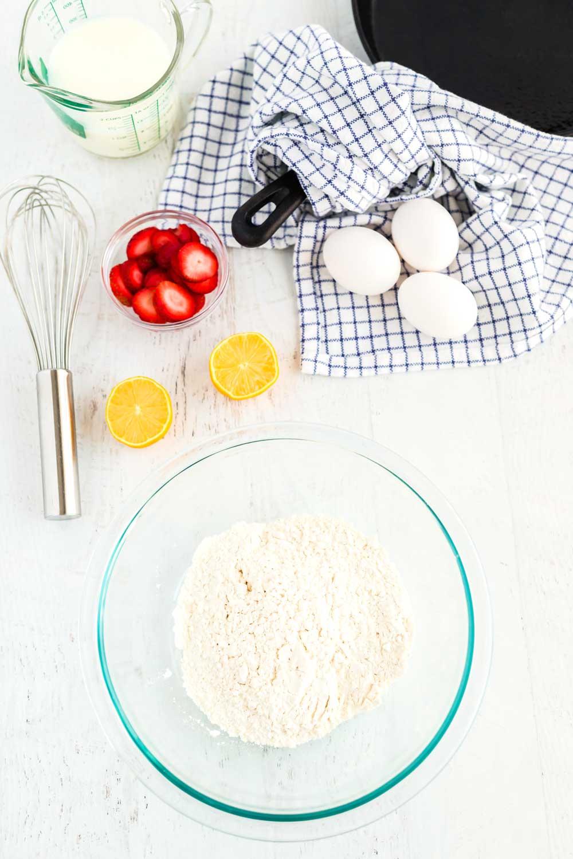 Vanilla Dutch Baby Pancake Ingredients