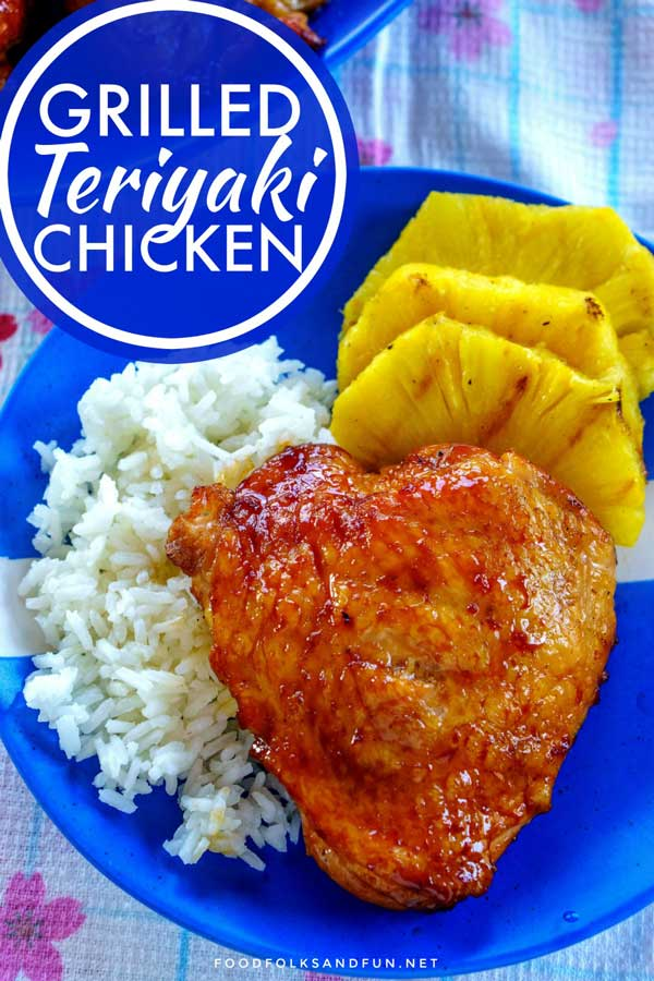 Grilled teriyaki chicken thighs.