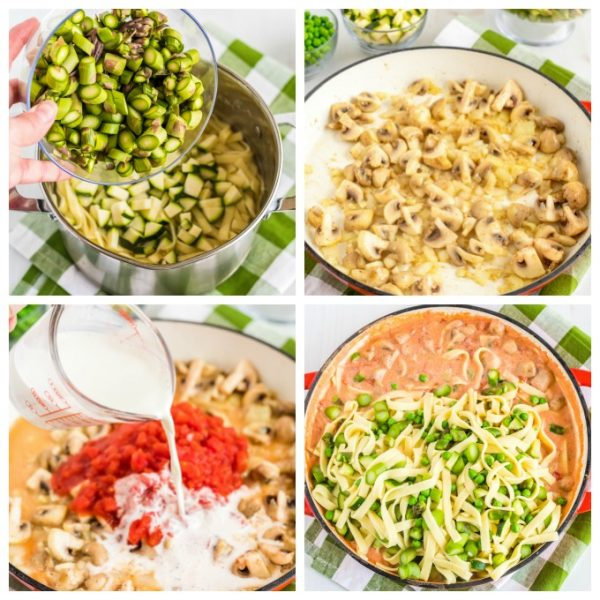 A picture collage of the steps needed to make this recipe.