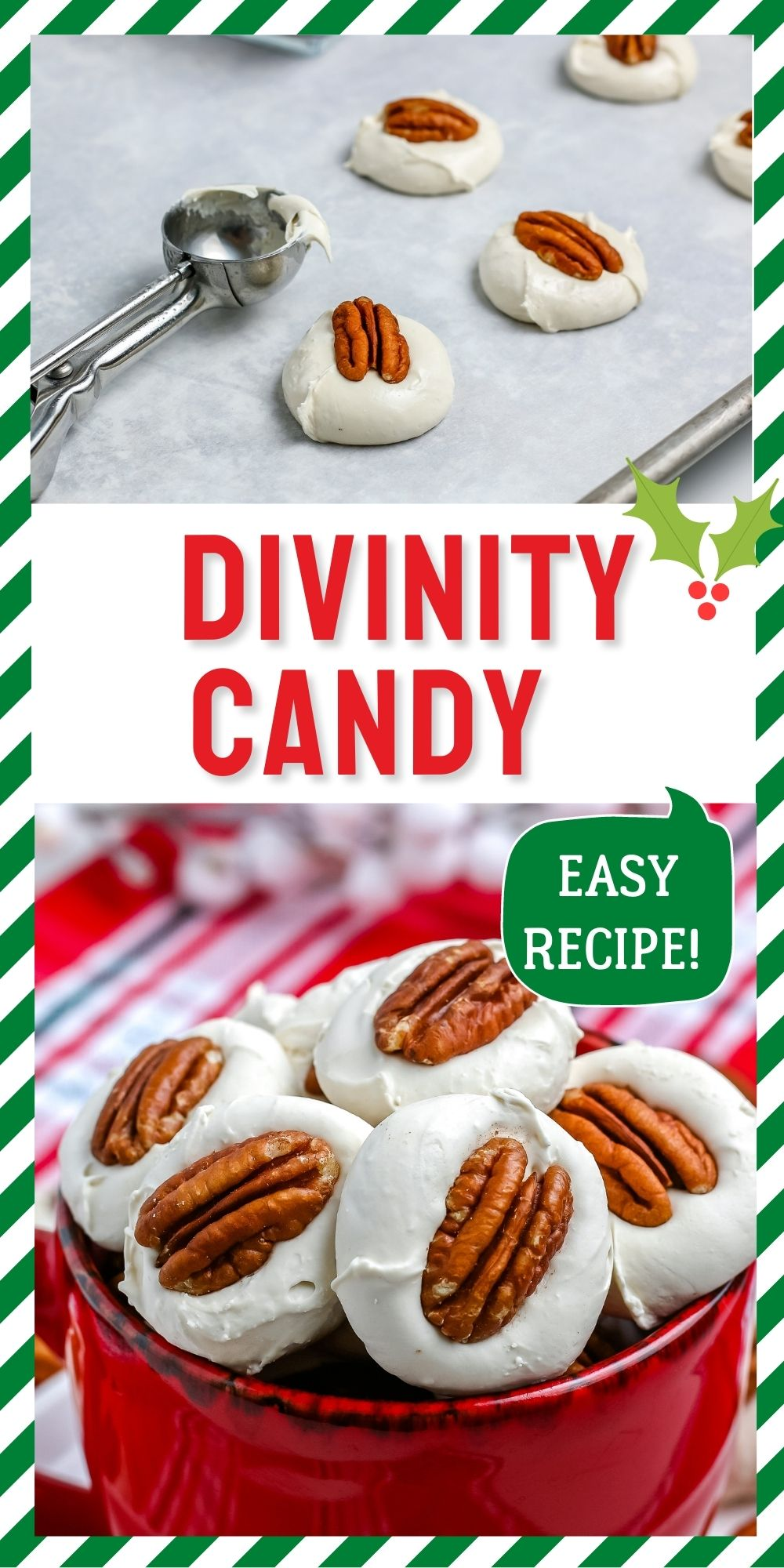 This Divinity Candy recipe is a classic holiday favorite! You only need a handful of ingredients, a little time, and you have soft and chewy Divinity Candy. via @foodfolksandfun