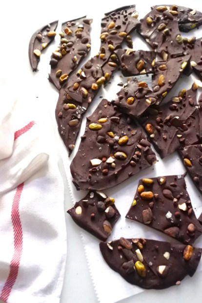 Chipotle Dark Chocolate Studded With Pistachios Almonds