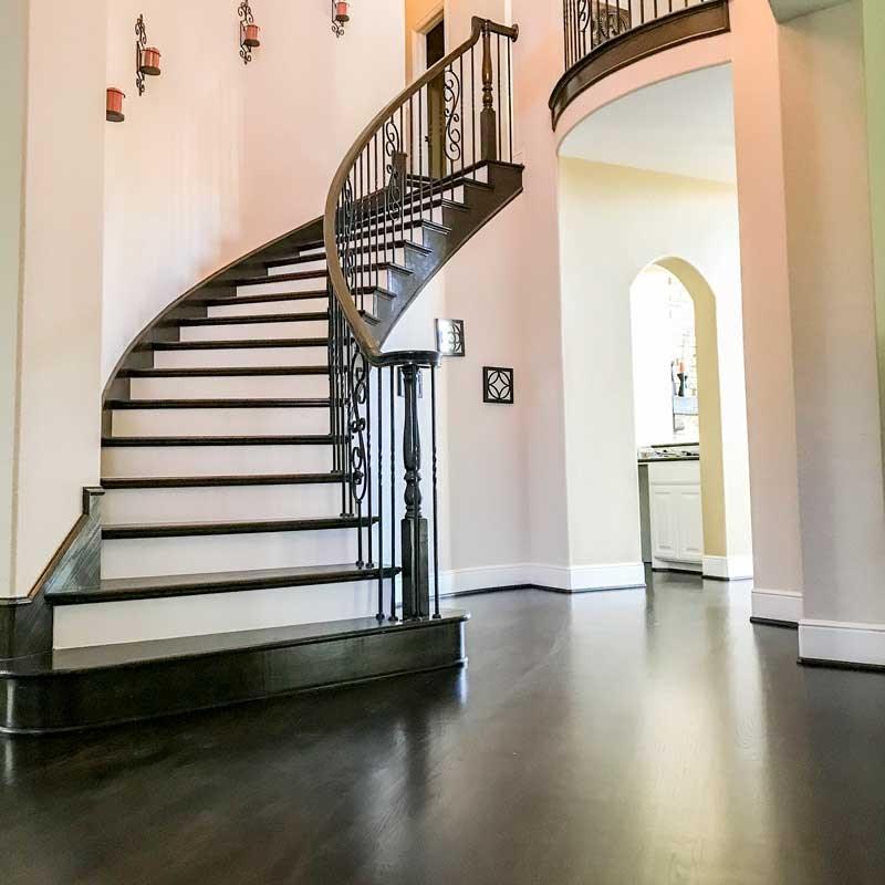 Stair Flooring Installation Contractors Near Me Footprints Floors | Installing Wood Floors On Stairs | Stair Tread | Stair Nosing | Carpeted Stairs | Vinyl Plank | Carpet