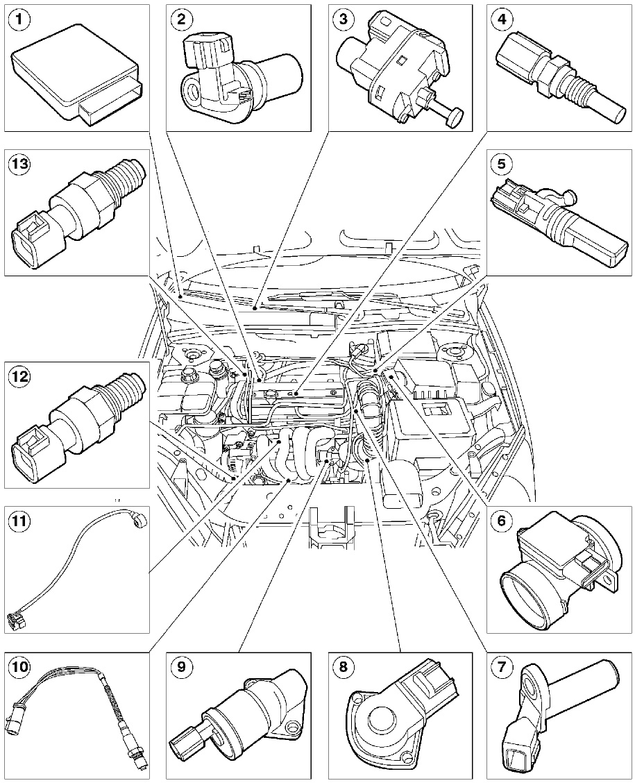 Here is the more detailed diagram the item numbered 1 is the pcm this suggests it might be up under the dash