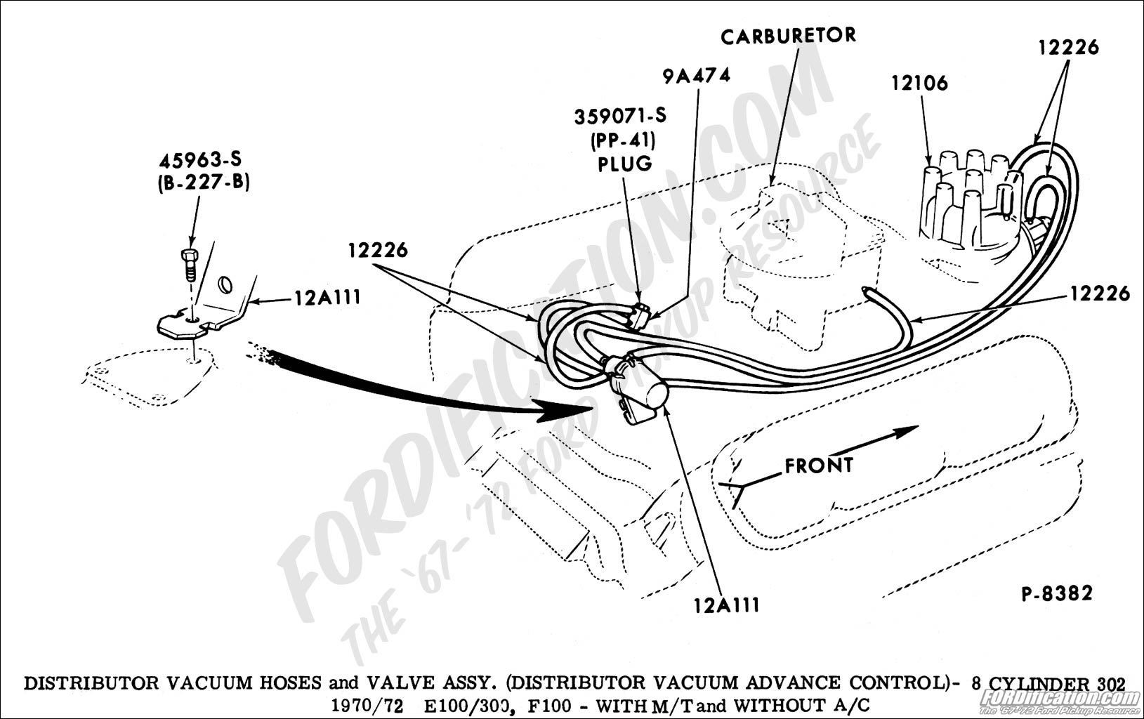 1974 Ford F 250 Heater Hose Routing