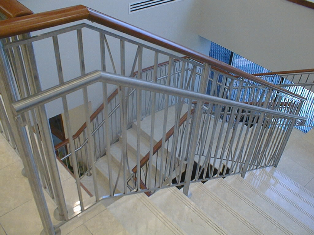 Hand Rails Railings Foreman Fabricators Inc St Louis Mo   Stainless Steel Banister Rail   Ags Stainless   Satin Stainless   Metal Fabrication   Railing Designs   Cable Railing Kits
